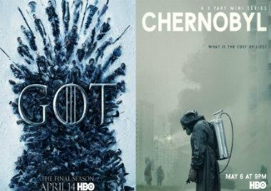 Game of Thrones, Chernobyl, series mas buscadas, google 2019